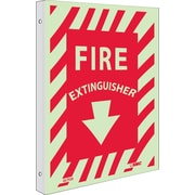 Fire, Fire Extinguisher, 12X9, Plastic Flangedglow