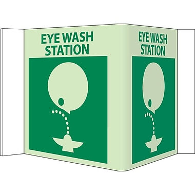 Visi, Eye Wash Station, 5.75X8.75, Acrylicglow