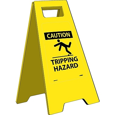 Heavy Duty Floor Sign, Caution Tripping Hazard, 24.63X10.75