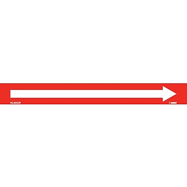 Pipemarker, Adhesive Vinyl, Directional Arrows, Red, 1X9 3/4