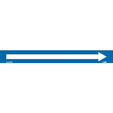 Pipemarker, Adhesive Vinyl, Directional Arrows, Blue, 1X9 3/4