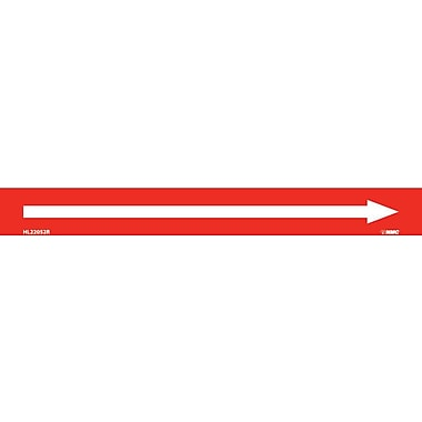 Pipemarker, Adhesive Vinyl, Directional Arrows, Red, 1X9 1/2