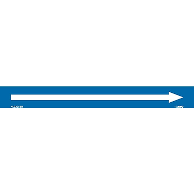 Pipemarker, Adhesive Vinyl, Directional Arrows, Blue, 1X9 1/2