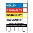 Right To Know Labels, Write On Color Bar, 6X4, Adhesive Vinyl, 10/Pk