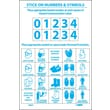 Right To Know Labels, Personal Protection Numbers & Symbols, Adhesive Vinyl, 10/Pk