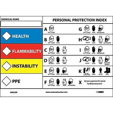 Rtk Protective Equipment Label, 5X7, Adhesive Vinyl