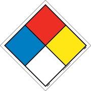 Hazardous Materials System Labels, 4 1/2X4 1/2, Adhesive Vinyl, 5/Pk