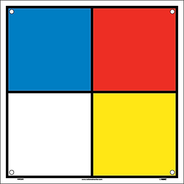 Hazard Identification System Labels, 8X8, Rigid Plastic