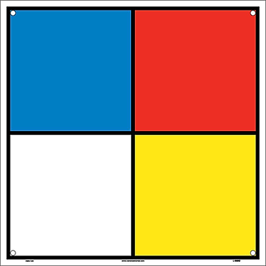 Hazardous Materials Systems Label, 10X10, Rigid Plastic