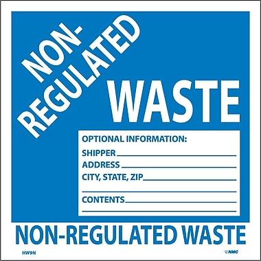 Hazard Labels, Non-Regulated Waste, 6