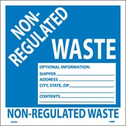 Hazard Labels, Non-Regulated Waste, 6X6, Adhesive Vinyl, 25/Pk