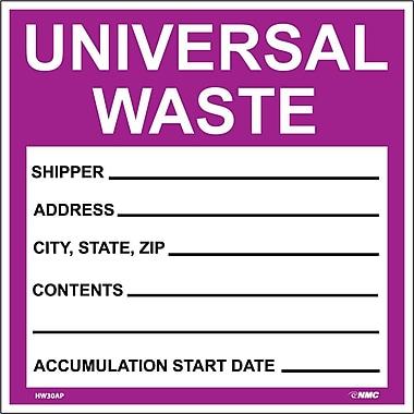 Hazard Labels, Hazardous Materials Shipping, Universal Waste, 6