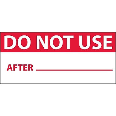 Inspection Label, Do Not Use, Red/Wht, 1X2 1/4, Adhesive Vinyl (27 Labels)