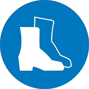 Label, Graphic For Wear Foot Protection, 2In Dia, Adhesive Vinyl