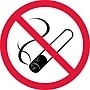 Label, Graphic For No Smoking, 2In Dia, Adhesive