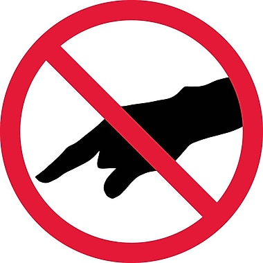 Label, Graphic For Do Not Touch, 2In Dia, Adhesive Vinyl