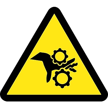 Label, Graphic For Gear Entanglement Hazard, 2In Dia, Adhesive Vinyl