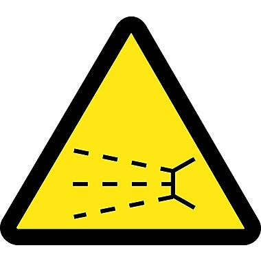 Label, Graphic For Splash Hazard, 2In Dia, Adhesive Vinyl
