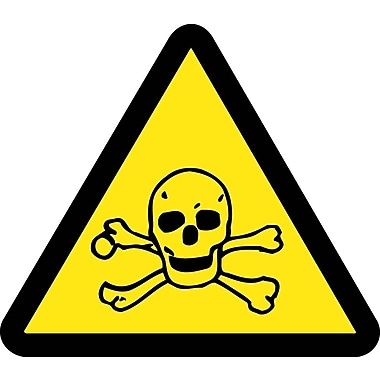 Label, Graphic For Toxic Hazard, 2In Dia, Adhesive Vinyl