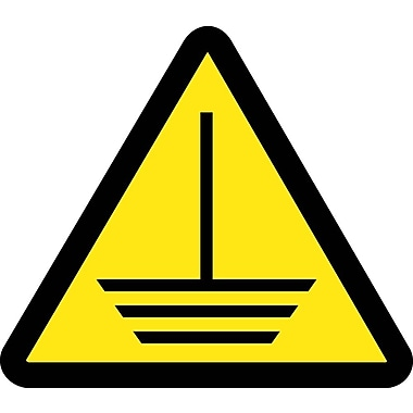 Label, Graphic For Electric Ground Hazard, 2In Dia, Adhesive Vinyl