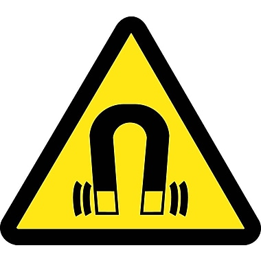 Label, Graphic For Strong Magnetic Field Hazard, 2In Dia, Adhesive Vinyl