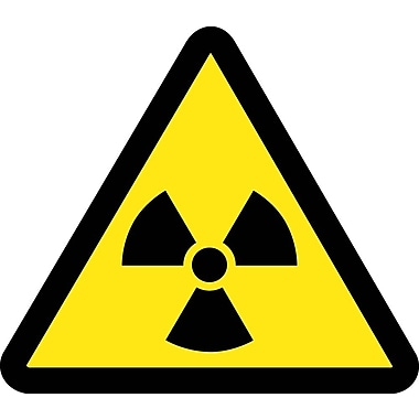 Label, Graphic For Radioactive Material Hazard, 2In Dia, Adhesive Vinyl