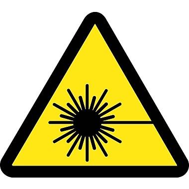 Label, Graphic For Laser Hazard, 2 In Dia, Adhesive Vinyl