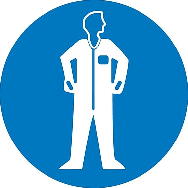Label, Graphic For Wear Protective Clothing, 4In Dia, Adhesive Vinyl