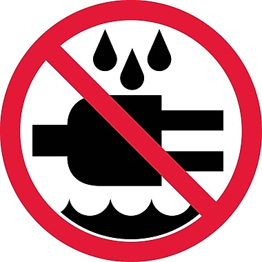 Label, Graphic For Do Not Expose To Water, 4In Dia, Adhesive Vinyl