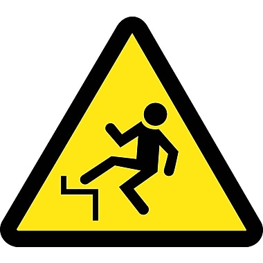 Label, Graphic For Step Off Hazard, 4In Dia, Adhesive Vinyl