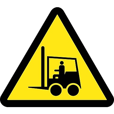 Label, Graphic For Life Truck Hazard, 4In Dia, Adhesive Vinyl