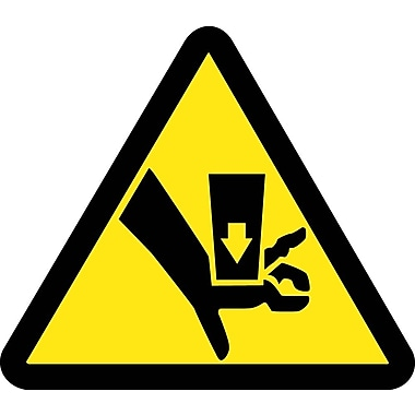 Label, Graphic for Crush Hazard 4In Dia, Adhesive Vinyl
