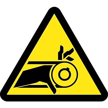 Label, Graphic For Belt Drive Entanglement Hazard, 4In Dia, Adhesive Vinyl
