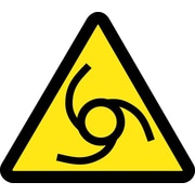 Label, Graphic For Automatic Or Remote Starting Hazard, 4In Dia, Adhesive Vinyl