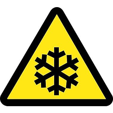 Label, Graphic For Low Temperature Hazard, 4In Dia, Adhesive Vinyl