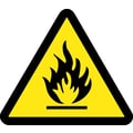 Label, Graphic For Fire Hazard, 4In Dia, Adhesive Vinyl