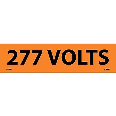 Voltage Marker, Adhesive Vinyl, 277 Volts, 2-1/4