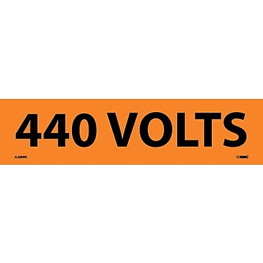Voltage Marker, Adhesive Vinyl, 440 Volts, 2 1/4X9
