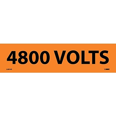 Voltage Marker, Adhesive Vinyl, 4800 Volts, 2-1/4