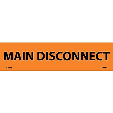 Electrical Markers, Main Disconnect, 2.25