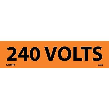 Voltage Marker, Adhesive Vinyl, 240 Volts, 1-1/8