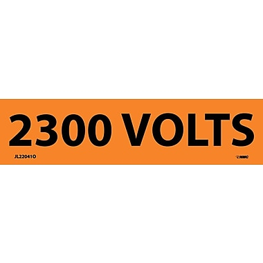 Electrical Markers, 2300 Volts, 1.125X4.5, Adhesive Vinyl, 25/Pk