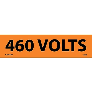 Electrical Markers, 460 Volts, 1.25X4.5, Adhesive Vinyl, 25/Pack