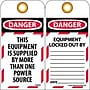 Lockout Lockout Tags, Lockout, Danger This Equipment Is