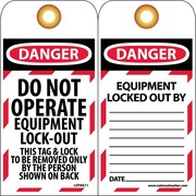 Lockout Lockout Tags, Lockout, Danger Do Not Operate Equipement Lock-Out