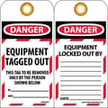 Lockout Lockout Tags, Lockout, Danger Equipment Tagged Out . . ., 6X3, Unrippable Vinyl