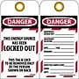 Lockout Lockout Tags, Lockout, Danger This Energy Source