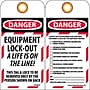 Lockout Lockout Tags, Lockout, Danger Equipment Lock-Out. .