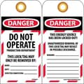 Lockout Lockout Tags, Do Not Operate Production Department, 6X3, Unrippable Vinyl, 10/Pk