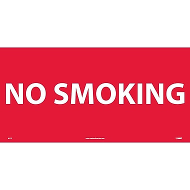 No Smoking, 12X24, Adhesive Vinyl